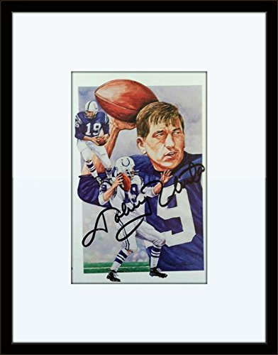 8c7fbde4b27 Image Unavailable. Image not available for. Color  Johnny Unitas Colts  Autograph On Card with Certificate of Authenticity