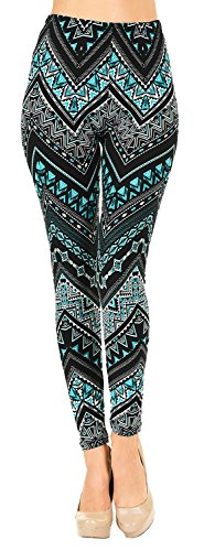 Chevron Triangle Plus Size Printed Leggings