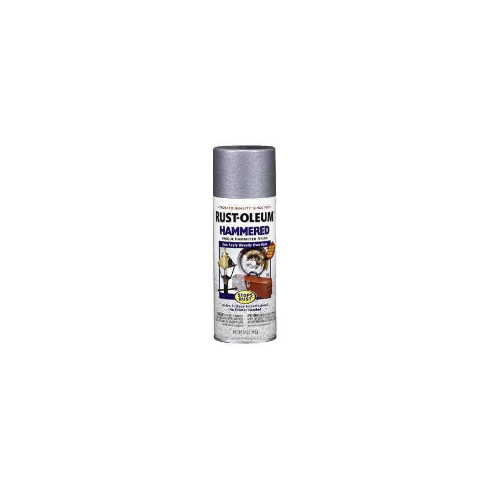 Silver Hammered Enamel Aerosol Spray Paint 7213 830 [Set of 6]