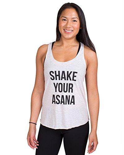 Inner Fire Shake Your Asana - Oatmeal - Women's Yoga Tank - Small