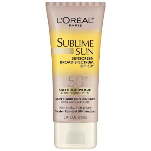 L'Oréal Paris Sublime Sun avancée SPF 50+ Lait, 3,0 once