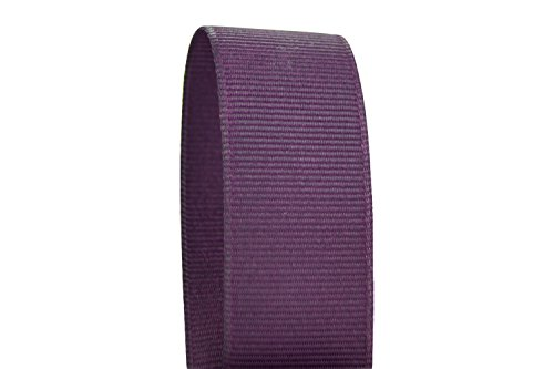 Ribbon Bazaar Solid Grosgrain Ribbon 3/8 inch Plum 50 Yards 100% Polyester ()