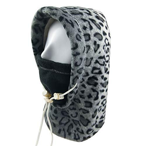 Hood 1 Fleece - INUPIAT Winter Balaclava Face Mask for Men Women Wind-Resistant Outdoor Ski Hat Neck Gaiter Scarf (Reversible, Adjustable)
