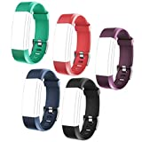 Product review for ID115 PLUS HR Replacement Wristbands - Adjustable Replacement Bands for Activity Tracker ID115 PlusHR, ID115 Plus, 5 Colors One Set (Black, Red, Blue, Green, Purple)