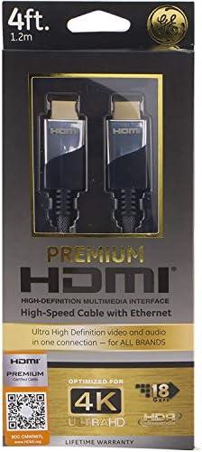 GE 35531 Ultra Pro - Cable HDMI con Ethernet (4 pies): Amazon.es: Electrónica