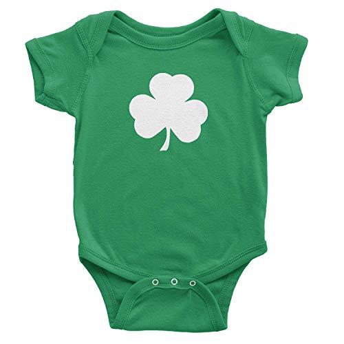NYC FACTORY Irish Infant Screen Printed Shamrock Baby Bodysuit Newborn 0m Green
