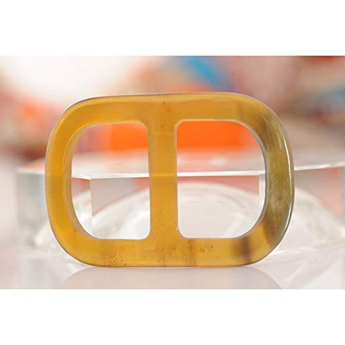 Oblong Gold Buffalo Horn Scarf Ring for Silk Scarves Buckles Brooch Ladys' Gifts