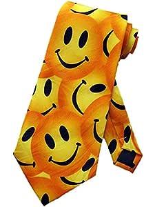Corbata Hombre Smiley Face Corbata Corbata Amarilla Corbata ...