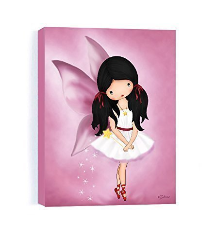 Fairy Personalized Wall Art (Personalized Girls Bedroom Angel Fairy Canvas Wall Art Picture for Baby Nursery 8