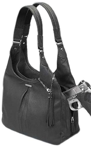 GTM Slouch Gun Tote'n Mamas - Conceal Carry Pleated Slouch Purse Black
