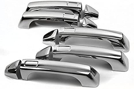 For Ford F150 Chrome 4 Door Handle Fuel Door Tailgate Cover Combo Overlay Trim