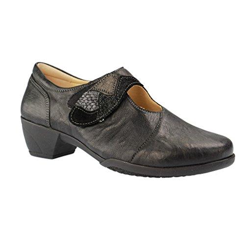 Fidelio 265002 80 Hallux Gracia G Women's Mary-Jane Shoe In Black Leather 63 Black