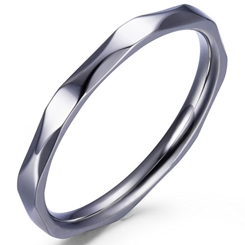 Jude Jewelers 2MM Stainless Steel Stackable Rings Wedding Band