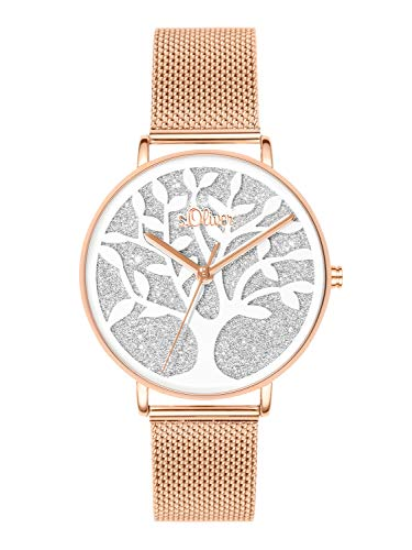 s.Oliver Time Womens Analogue Quartz Watch with Stainless Steel Strap SO-3596-MQ