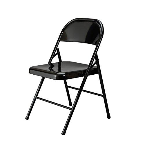 Essentials Multipurpose Metal Folding Chair, Black - 4 Pack ()