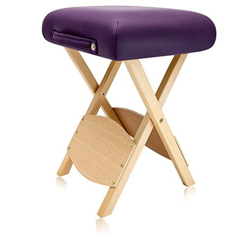 (Dr.lomilomi Wooden Folding Massage Stool 511 (English Violet))