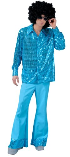 [Mens Disco Blue Pants Halloween Costumes size Large] (Mens Disco Costumes)