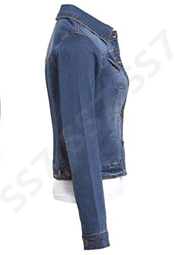 Extensible SS7 en Tailles 8 Mi jeans nouvelles Veste pour D femmes 16 pprqwxAUE