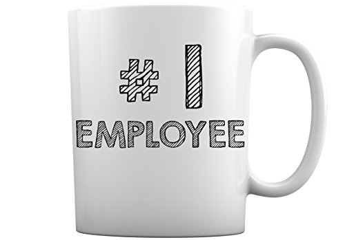 #1 Entire Family Variation of Mugs | Choose from over 30 Designs in 11 or 15 Ounce White Coffee Mugs for #1 Dad, 1 Mom, 1 Teacher, 1 Sister, 1 Brother + Many More (#1 Employee, 11 Ounce)