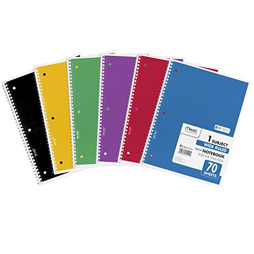 043100055105 - Mead Spiral 1-Subject Wide-Ruled Notebook, Assorted Colors (5510) carousel main 6