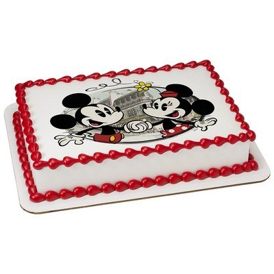 Mickey & Minnie Mouse Licensed Edible Cake Topper #8243 -