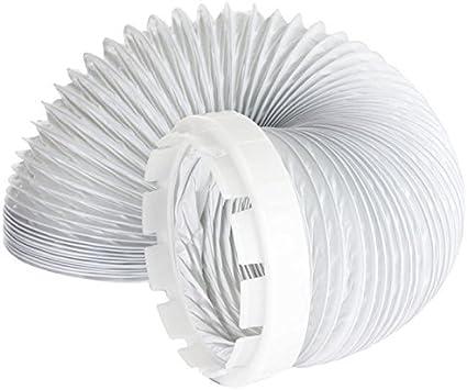 Indesit Manguera de Ventilación y Adaptador Kit Secadora de Ropa (2 Metros, 4 '' de Montaje)