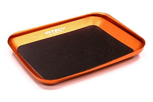Integy RC Model Hop-ups C23347ORANGE Magnetic Parts Storage Tray 88x107mm for Hardware, Screws & Nuts