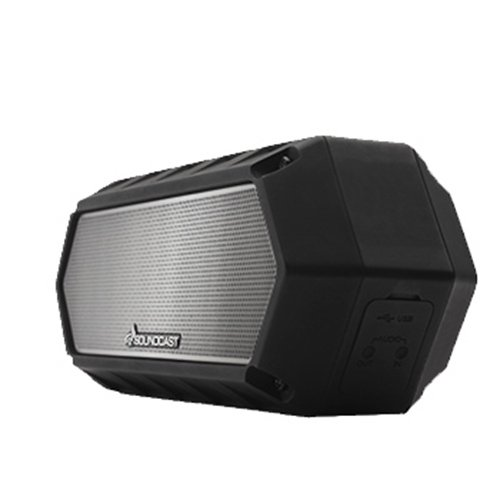 Soundcast VG1 Premium Bluetooth Waterproof Speaker– Shock Resistant – Dynamic Full Range + Bass, Stereo Pair, Works with Siri, iPhone / Android / Samsung / Windows Devices