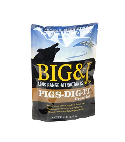BIG & J PIGS-DIG-IT GRANULAR Hog Attractant,  Intense Aroma Attracts Hogs Far Away, Hog Hunting, 5 Pound Bag