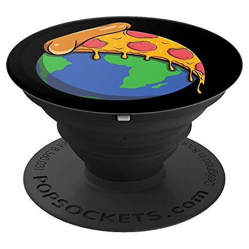 Pepperoni Pizza Popsocket Earth Day Pizza On Top of Earth - PopSockets Grip and Stand for Phones and Tablets