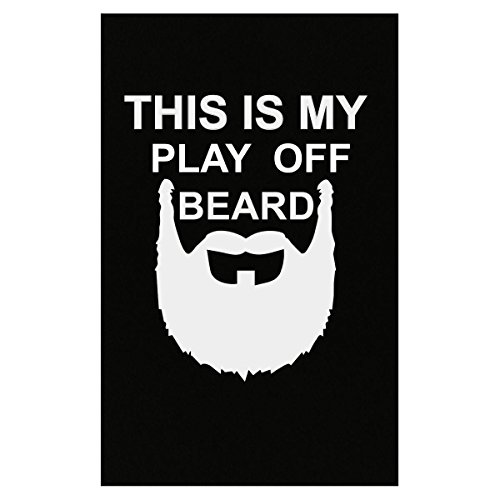 Black Playoff Beard (This Is My Play Off Beard Great Gift For Any Baseball Fan - Poster)