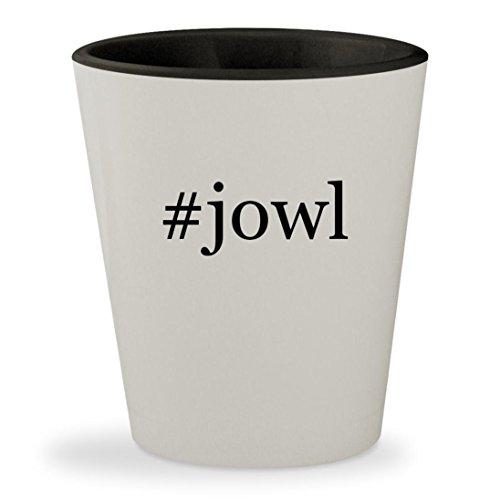 #jowl - Hashtag White Outer & Black Inner Ceramic 1.5oz Shot (Jowl Sweat)