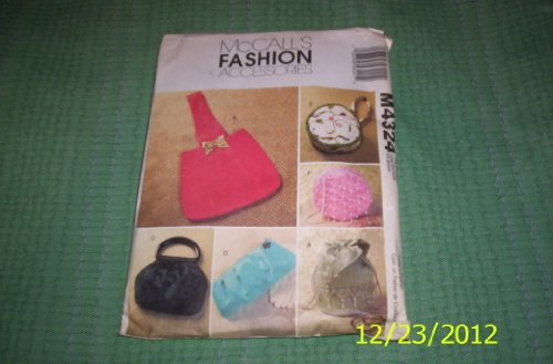 McCall's M4324 Fashion Accessories, Soft Evening Bags, Purses, Sewing - Fashion Mccalls Accessories