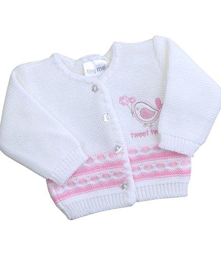 - BabyPrem Preemie Baby Cardigan Boys Girls Tweet Tweet 3.5 - 7.5lb WHITE PREM 2