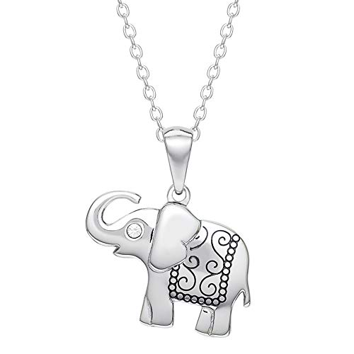 Hallmark Jewelry Connections from, Stainless Steel Elephant Crystal Pendant ()