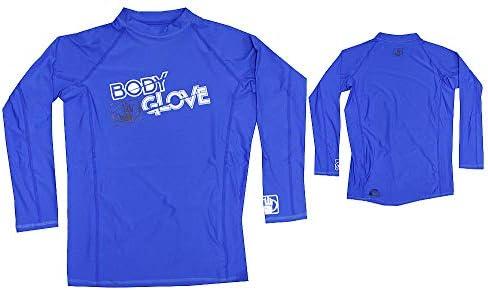 Body Glove Rash Guard Basic Kinder Shirt Blau L/A Langarm Schwimmen Longsleeve Lycra T- Shirt