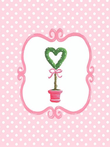 Oopsy Daisy Bella Heart Topiary by Sherri Blum Canvas Wall Art, 18 by ()