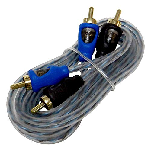 6m Twisted Pair Rca Cable - Bass Rockers 20ft Interconnect RCA Audio Cable - CRC20