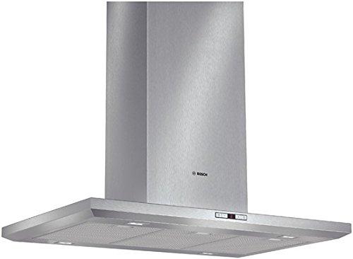 Bosch DIB091E51 Serie 6 Inselhaube / 90 cm / Wahlweise Abluft- oder Umluftbetrieb / Elektronische Steuerung mit 4 Tasten und Display / edelstahl [Energieklasse A]