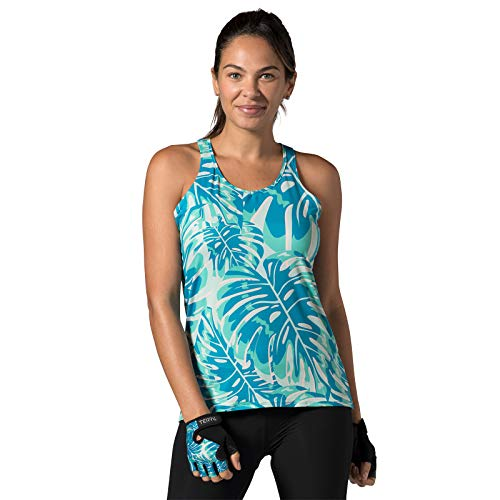 ank Sleeveless Cycling Top for Women - Lightweight Ladies Tank Top with UPF 50+ Sun Protection - Tropics - Large ()