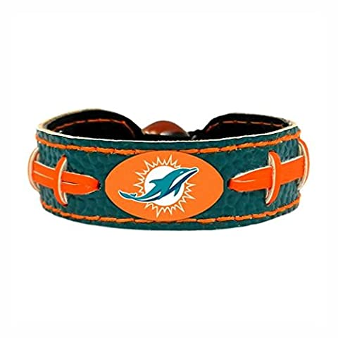 NFL Miami Dolphins Football Bracelet, Green, One Size - Gamewear Sports Bracelet