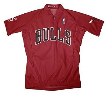 NBA CHICAGO BULLS camiseta de manga corta de ciclismo Jersey - OLP1001, Rojo
