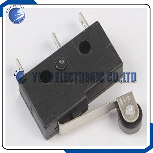 10pcs Tact Switch KW11-3Z 5A 250V Microswitch Round Handle 3PIN Hinge Roller Lever Type Micro Limit Plunger ()