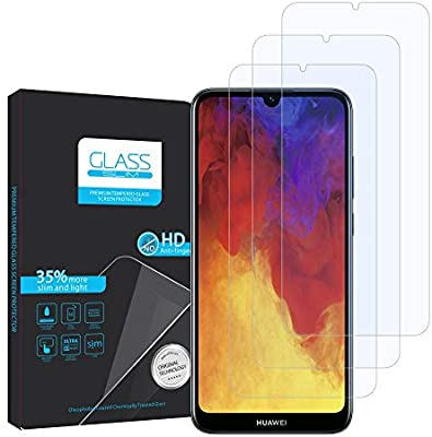 FMPC [3-Pack Protector Pantalla Huawei Y6 2019, Cristal Vidrio ...