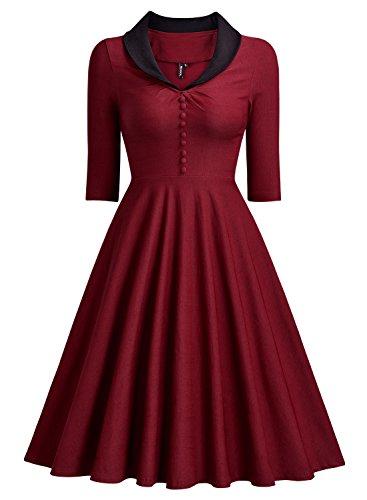 Miusol Womens Retro Sleeve 1950S