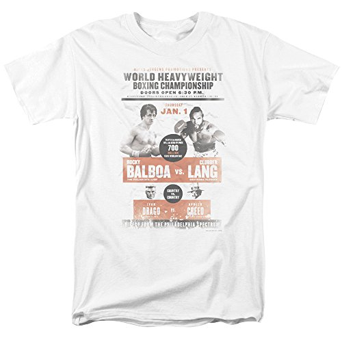 Rocky MGM Movie Vs Clubber Poster Adult Mens T-Shirt Tee