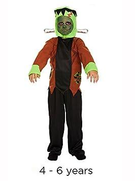 Infantil Halloween Frankenstein Monster Disfraz Pequeño 4-6 años: Amazon.es: Juguetes y juegos
