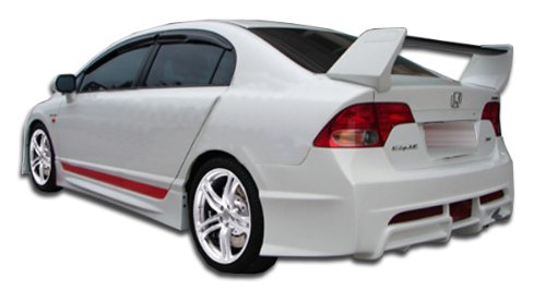 Duraflex Replacement for 2006-2011 Honda Civic 4DR R-Spec Rear Bumper Cover - 1 Piece ()