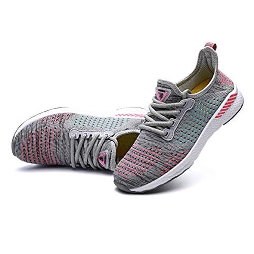 Moda Scarpe Sportive Tutta Mesh in la da Sneakers Stagione Usura Corsa Casual Traspirante comode Scarpe Jogging per Stringate Piatte da Quotidiana rw7qrFx80