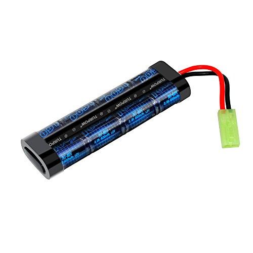 Turpow 9.6V NiMH 1600mAh Flat Mini Battery Pack with Mini Ta